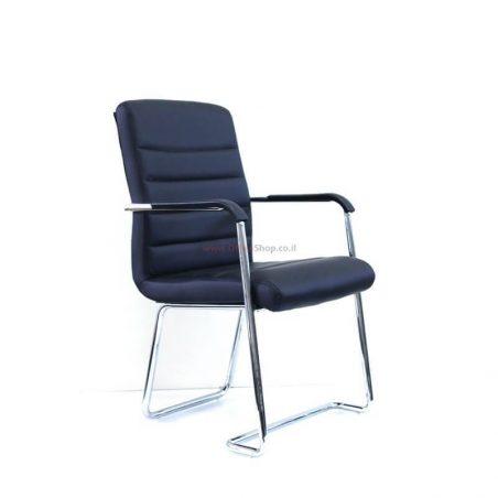 כסא אורח GAP בריפוד PU שחור