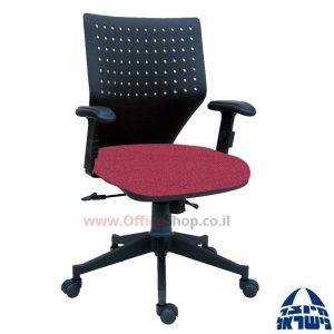 כיסא מזכירה סינכרוני דגם שרון+ידיות מתכווננות