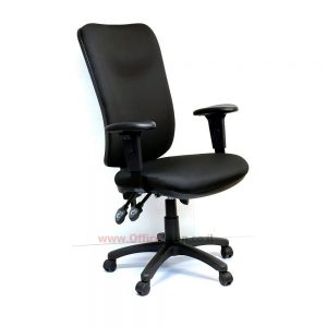 כסא מזכירה משרדי דגם Ofir גב גבוה עם ידיות מתכווננות