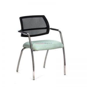 כסא אורח דגם OR – כסא עם גב רשת ומושב מרופד
