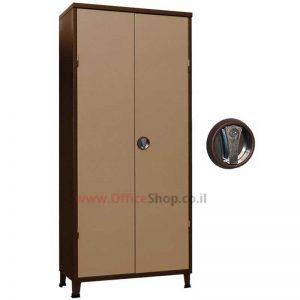 ארון מתכת משרדי 2 דלתות 195X86X43 במבחר צבעי אפוקסי