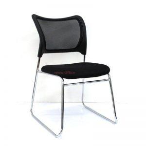 כסא אורח דגם TAL – כסא עם גב רשת ומושב מרופד