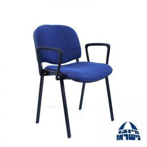 כסא אורח מרופד – דגם ויזי + ידיות