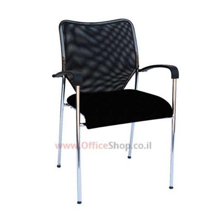 כסא משרדי גב רשת מושב מרופד – דגם חן