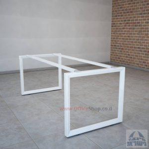 רגלי מתכת טלסקופיותלשולחן משרדי Diamond בצבע לבן