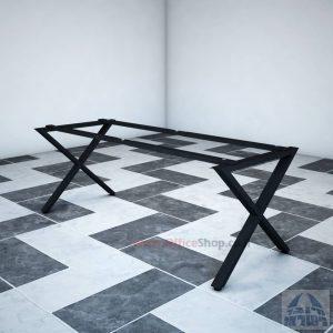 קיט רגלי מתכת טלסקופיותלשולחן משרדי EXTRA בצבע שחור