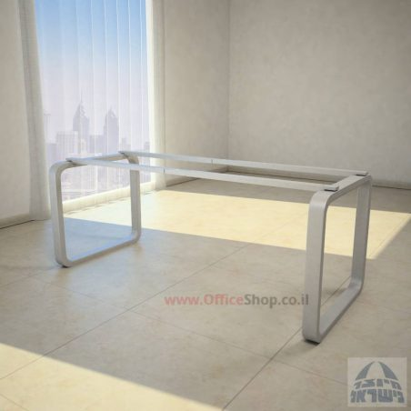 רגלי מתכת טלסקופיותלשולחן משרדי דגםOLA לבן מבריק