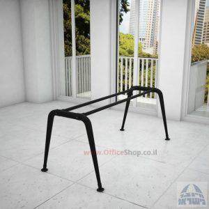 קיט רגלי מתכת לשולחן משרדי דגם Keren בגימור צבע אפוקסי שחור