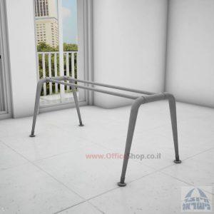 קיט רגלי מתכת לשולחן משרדי דגם Keren בגימור צבע אפוקסי אפור