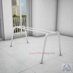 קיט רגלי מתכת לשולחן משרדי דגם Keren בגימור צבע אפוקסי לבן מבריק