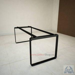 רגל מתכת טלסקופיתלשולחן משרדי דגם Niro בצבע שחור
