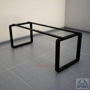 רגלי מתכת טלסקופיותלשולחן משרדי דגם Rondo בצבע שחור
