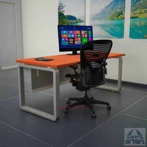 שולחן כתיבה: דגם Rondo רגל כסופה ומיסתור מתכת