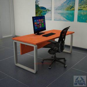 שולחן כתיבה יוקרתי דגם Rondo כולל מיסתור עץ רגל כסופה