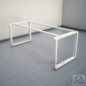 רגלי מתכת טלסקופיותלשולחן משרדי דגם Rondo בצבע לבן
