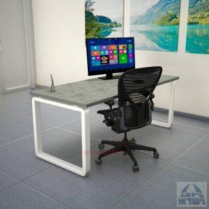 שולחן כתיבה יוקרתי דגם Rondo רגל לבנה ללא מיסתור