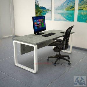 שולחן כתיבה יוקרתי Rondo כולל מיסתור עץ רגל לבנה