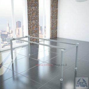 רגלי מתכת טלסקופיותלשולחן משרדי Tomer בצבע כסף