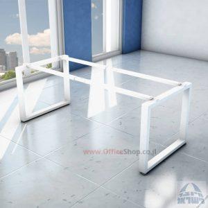 קיט רגלי מתכת טלסקופיותלשולחן כתיבה Window בצבע לבן