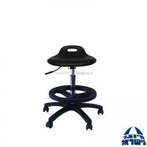 שרפרף מעבדה ארגונומי מקצועי מושב מוקצף+חישוק פלסטיק