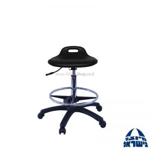 שרפרף מעבדה ארגונומי מקצועי מושב מוקצף+חישוק ניקל