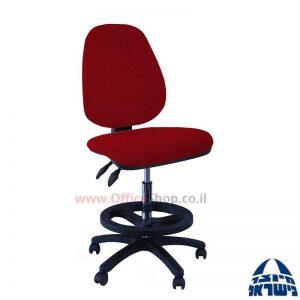 כסא שרטט מרופד דגם TOPAZ-בסיס שחור חישוק שחור