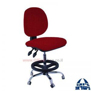 כסא שרטט מרופד דגם MORAN-בסיס ניקל חישוק שחור