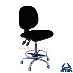 כסא שרטט מרופד דגם MORAN-בסיס ניקל חישוק ניקל