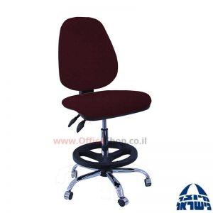 כסא שרטט מרופד דגם TOPAZ בסיס ניקל חישוק שחור