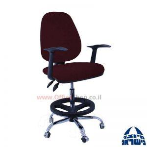 כסא שרטט מרופד דגם TOPAZ-בסיס ניקל חישוק שחור+ידיות ארגונומיות