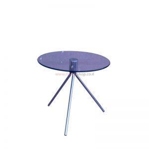 """שולחן המתנה זכוכית עגול דגם יפית 50 ס""""מ"""