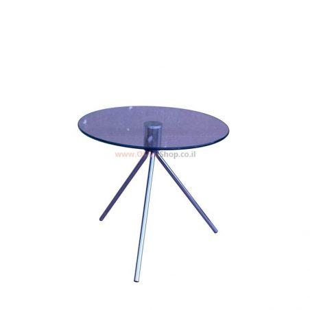 שולחן המתנה זכוכית עגול דגם יפית 50 ס