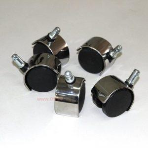 גלגלי ניילון כפולים עם כיסוי ניקל – 5 יחידות