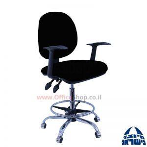 כסא שרטט מרופד דגם MORAN-בסיס ניקל חישוק ניקל+ידיות ארגונומיות