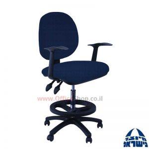 כסא שרטט מרופד דגם MORAN-בסיס שחור חישוק שחור+ידיות ארגונומיות