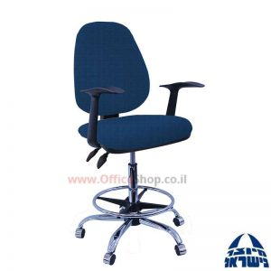 כסא שרטט מרופד דגם TOPAZ בסיס+חישוק ניקל+ידיות ארגונומיות