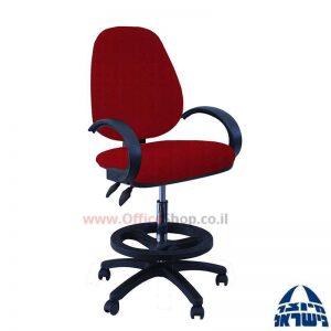 כסא שרטט מרופד דגם TOPAZ-בסיס שחור חישוק שחור+ידיות סהר