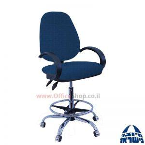 כסא שרטט מרופד דגם TOPAZ בסיס+חישוק ניקל+ידיות סהר