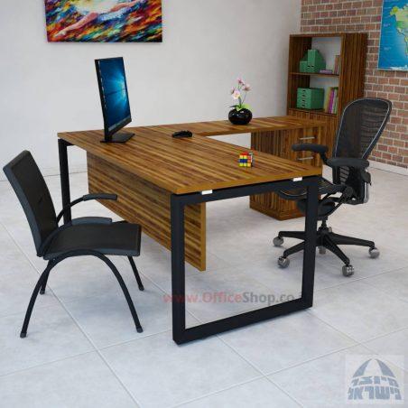 שולחן מזכירה פינתי דגם 4M-Diamond  כולל מיסתור