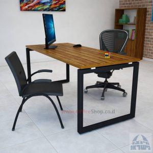 Diamond: שולחן כתיבה משרדי מפואר רגל שחורה
