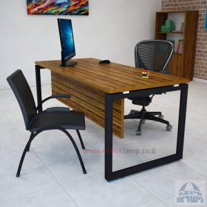 שולחן כתיבה יוקרתי דגם Diamond רגל שחורה כולל מיסתור עץ
