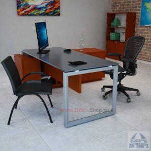 שולחן מנהלים פינתי דגם  Diamond Glass