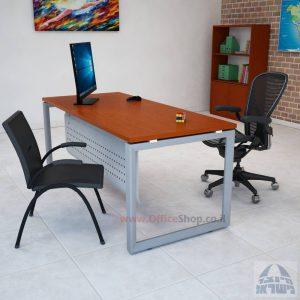 שולחן כתיבה יוקרתי דגם Diamond רגל כסופה כולל מיסתור מתכת