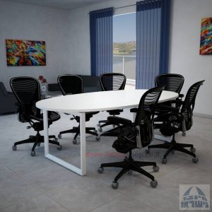 שולחן ישיבות יוקרתי דגם DIAMOND רגללבנה