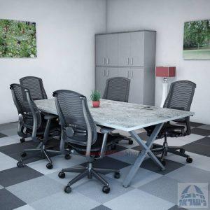 שולחן ישיבות מודרני דגם Extra רגל כסופה