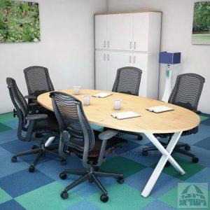 שולחן ישיבות מודרני דגם Extra רגל לבנה