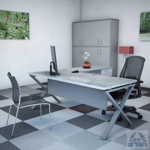 שולחן מזכירה יוקרתי Extra – M5רגל כסופה - מיסתור עץ
