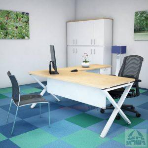שולחן מזכירה יוקרתי Extra – MD5רגל לבנה - מיסתור עץ
