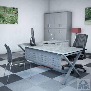 שולחן מזכירה יוקרתי Extra – MD5 רגל כסופה - מיסתור מתכת