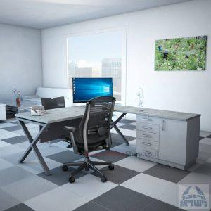 שולחן מזכירה יוקרתי Extra – MD5 רגל כסופה - מיסתור עץ